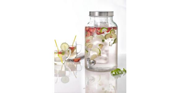 GETRÄNKESPENDER - Edelstahlfarben/Transparent, Basics, Glas/Kunststoff (5,6l) - Homeware