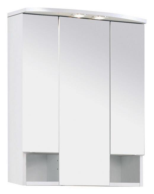 SPIEGELSCHRANK Weiß - Weiß, Design, Glas/Holzwerkstoff (60/71/20cm) - Carryhome