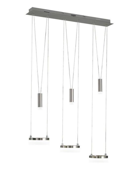 LED-HÄNGELEUCHTE - Chromfarben/Nickelfarben, Design, Metall (78/150/15cm) - Ambiente
