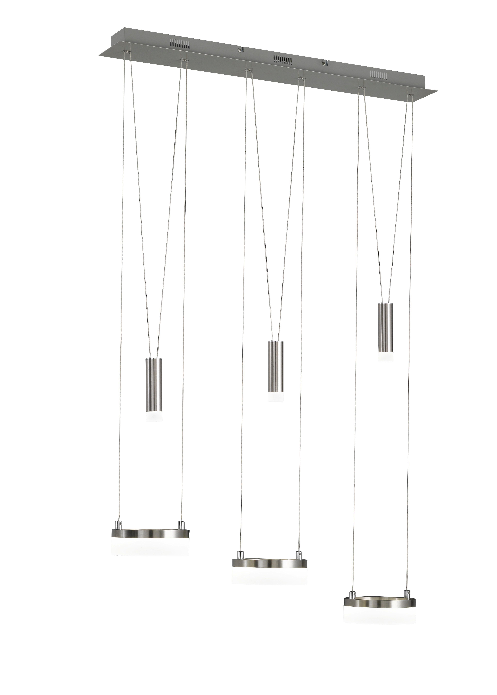 LED-HÄNGELEUCHTE - Chromfarben/Nickelfarben, Design, Metall (78/150/15cm)