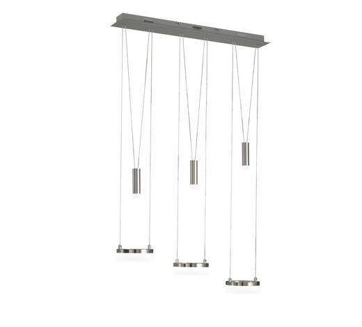 LED-HÄNGELEUCHTE - Chromfarben/Nickelfarben, KONVENTIONELL, Metall (78/150/15cm) - Ambiente
