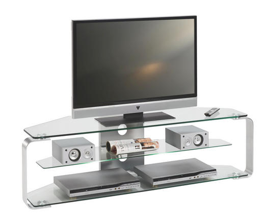TV-ELEMENT Alufarben - Alufarben, Design, Glas/Metall (140/40/40cm)