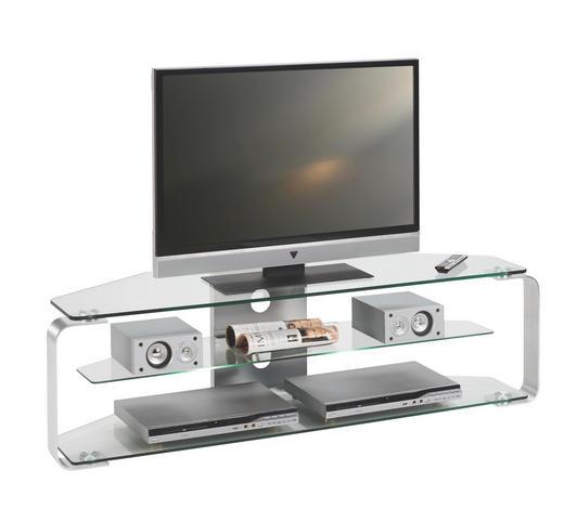 TV-ELEMENT 140/40/40 cm - Alufarben, Design, Glas/Metall (140/40/40cm)