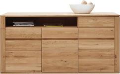 SIDEBOARD Wildeiche massiv geölt - Edelstahlfarben/Eichefarben, Design, Holz/Kunststoff (172/86/47cm) - Valnatura
