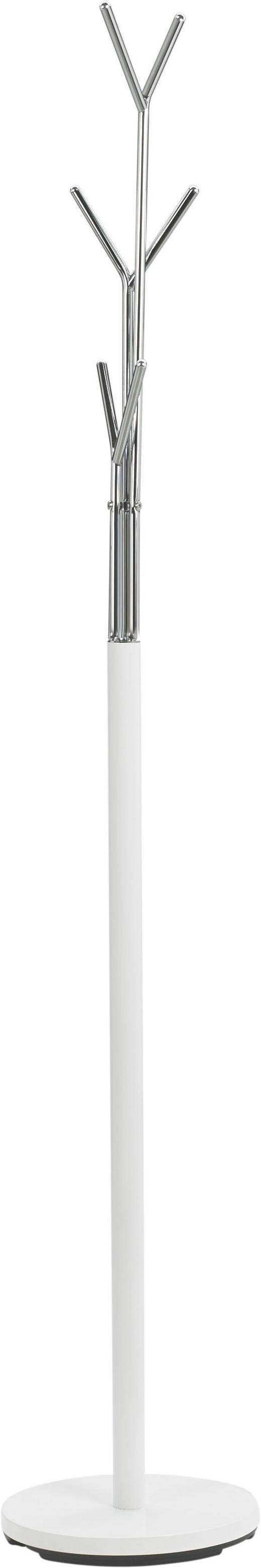 KLEIDERSTÄNDER Chromfarben, Weiß - Chromfarben/Weiß, Design, Metall (29/171/29cm) - Boxxx