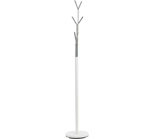 KLEIDERSTÄNDER in Weiß, Chromfarben 29/171/29 cm   - Chromfarben/Weiß, Design, Metall (29/171/29cm) - Boxxx