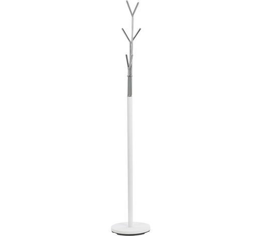 ŠATNÍ STOJAN - bílá/barvy chromu, Design, kov (29/171/29cm) - Boxxx