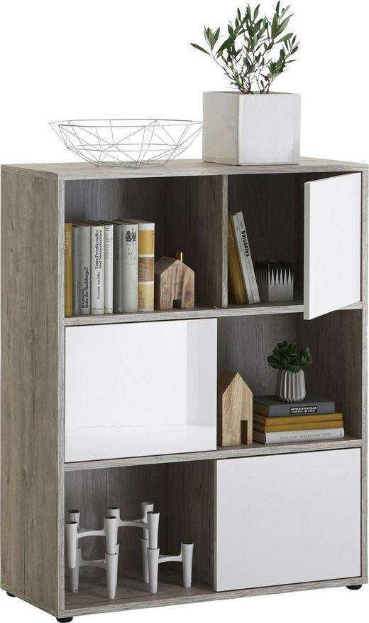 REGAL Eichefarben, Weiß - Eichefarben/Schwarz, Design, Kunststoff (90/111/33cm) - Carryhome
