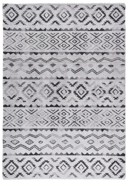 HOCHFLORTEPPICH  130/190 cm   Grau - Grau, Design, Textil (130/190cm) - Novel