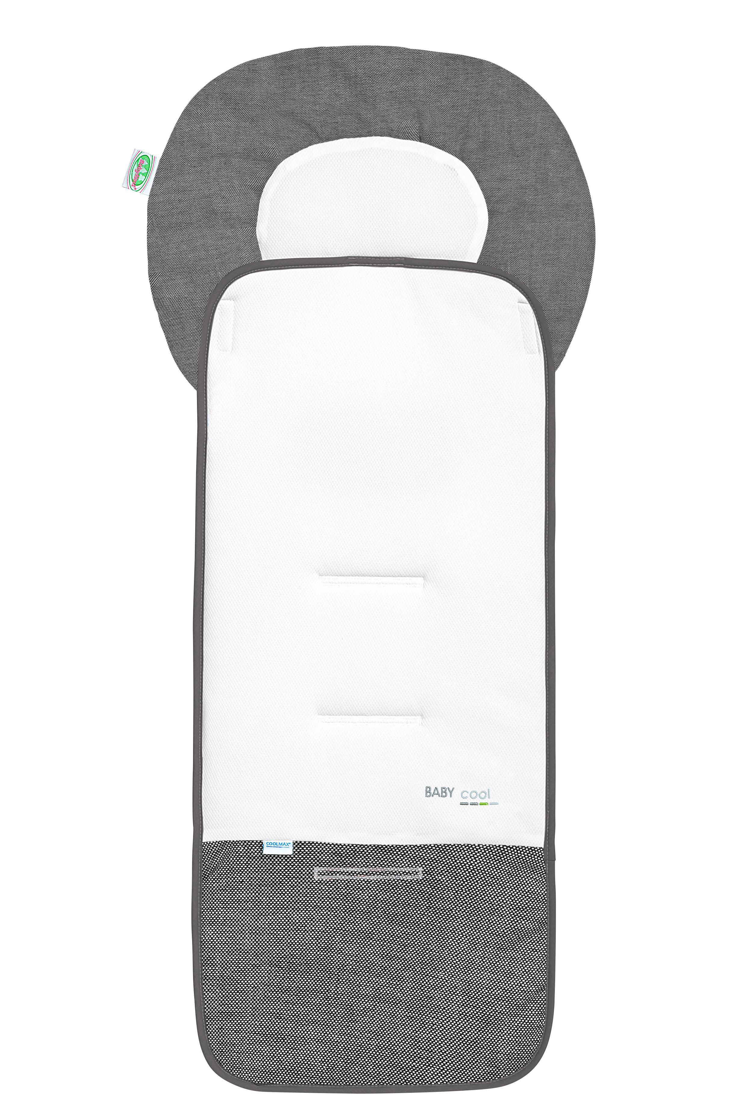 KINDERWAGENEINLAGE - Graphitfarben/Weiß, Textil - ODENWÄLDER