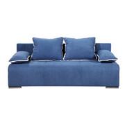 TROSED  bela, modra tekstil - modra/bela, Design, umetna masa/tekstil (200/80/90cm) - Xora