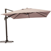 SUNCOBRAN - tamno smeđa/smeđa, Design, metal/tekstil (300/265/300cm) - AMBIA GARDEN