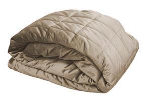 SÄNGÖVERKAST - ljusbrun, Design, textil (160/260cm)