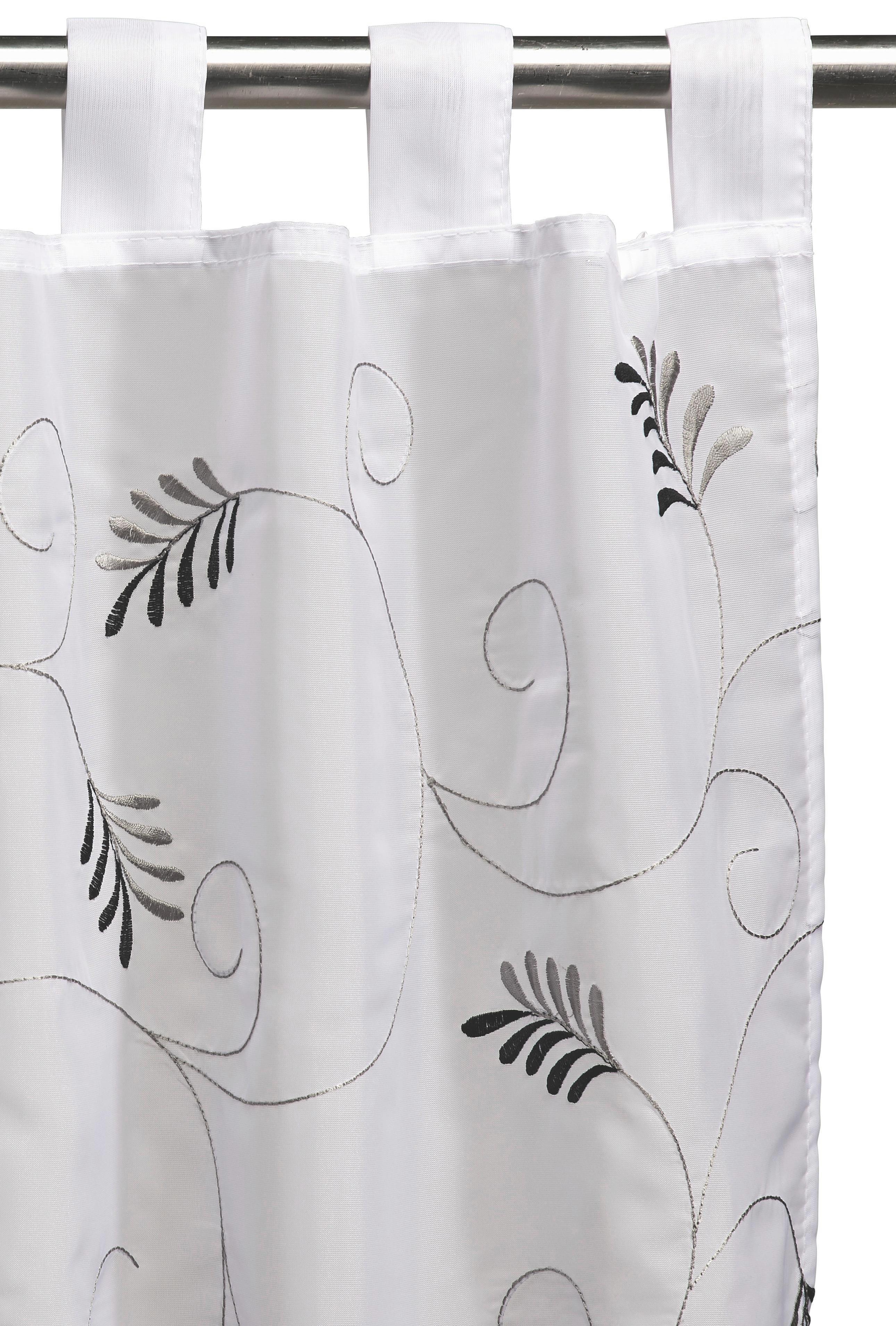 KURZGARDINE   148/48 cm - Schwarz, Basics, Textil (148/48cm) - BOXXX