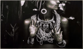 KONSTTRYCK - silver/multicolor, Lifestyle, trä/textil (120/70cm) - Monee