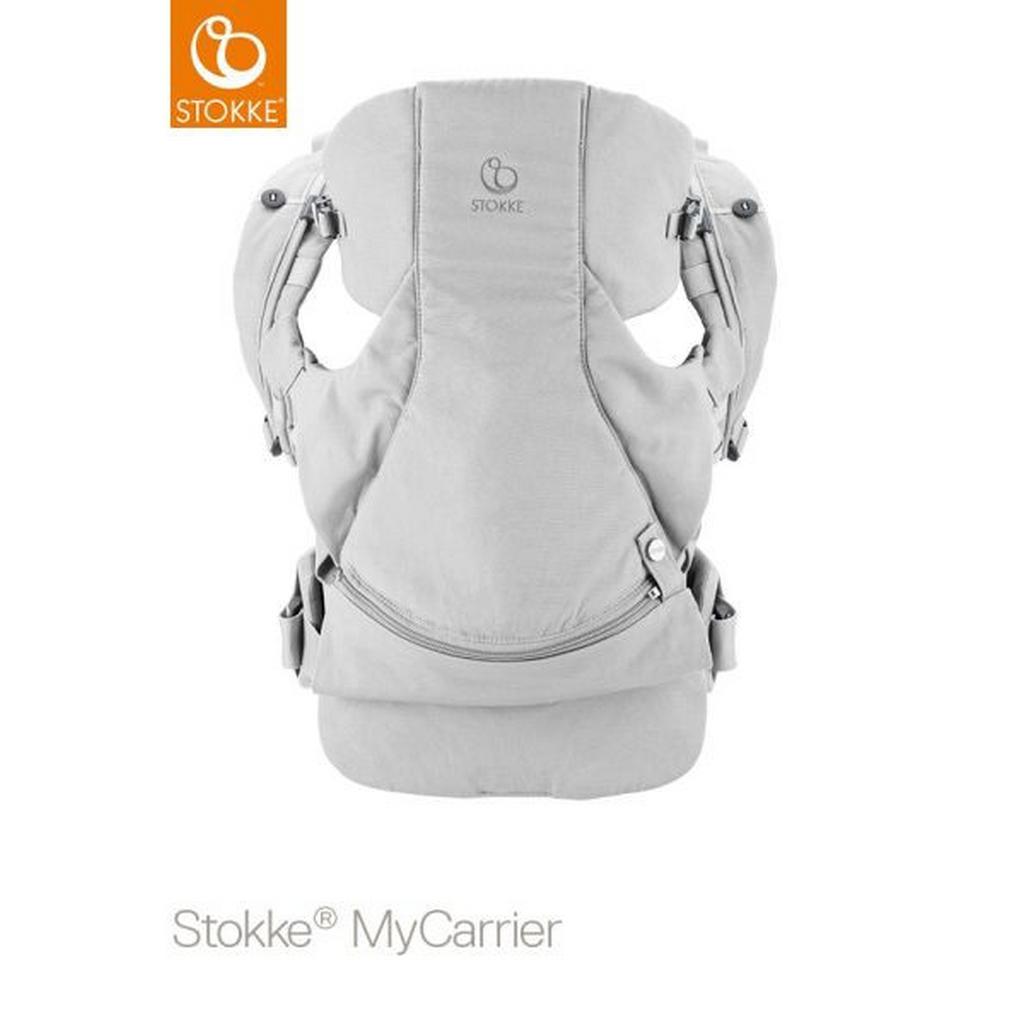 Image of Stokke Babytrage my carrier , 431606 , Hellgrau , Textil , 30x40x11 cm , Rückentragefunktion, Bauchtragefunktion, gepolsterte und faltbare Kopf- und Nackenstütze , 004792009406