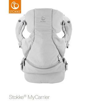 stokke mycarrier 3in1 grå - ljusgrå, Basics, textil (30/40/11cm) - Stokke