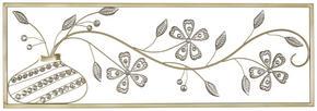 VÄGGDEKORATION - silver/guldfärgad, Klassisk, metall (99/4/33cm) - Ambia Home