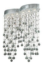 LED-HÄNGELEUCHTE - Chromfarben, LIFESTYLE, Glas/Metall (84/25/95cm) - Glandor