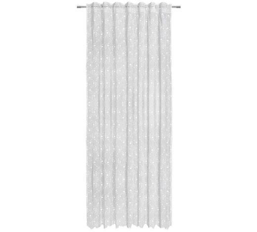 KUSOVÁ ZÁCLONA, průhledné, 140/245 cm - bílá, Lifestyle, textil (140/245cm) - Landscape