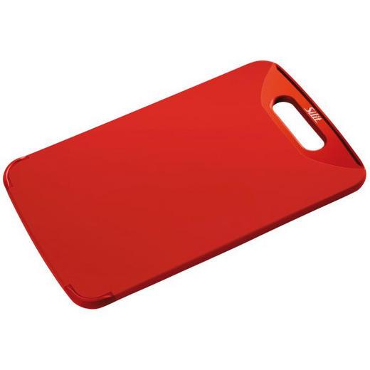 SCHNEIDBRETT 38 X 25 Kunststoff - Rot, Basics, Kunststoff (25/38cm) - Silit