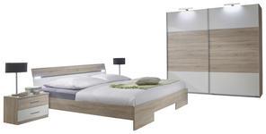 SCHLAFZIMMER in Weiß, Eichefarben  - Eichefarben/Weiß, Design, Holzwerkstoff (180/200cm) - Carryhome