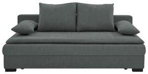 SCHLAFSOFA in Textil Dunkelgrau - Dunkelgrau/Schwarz, KONVENTIONELL, Kunststoff/Textil (207/74-94/90cm) - Venda