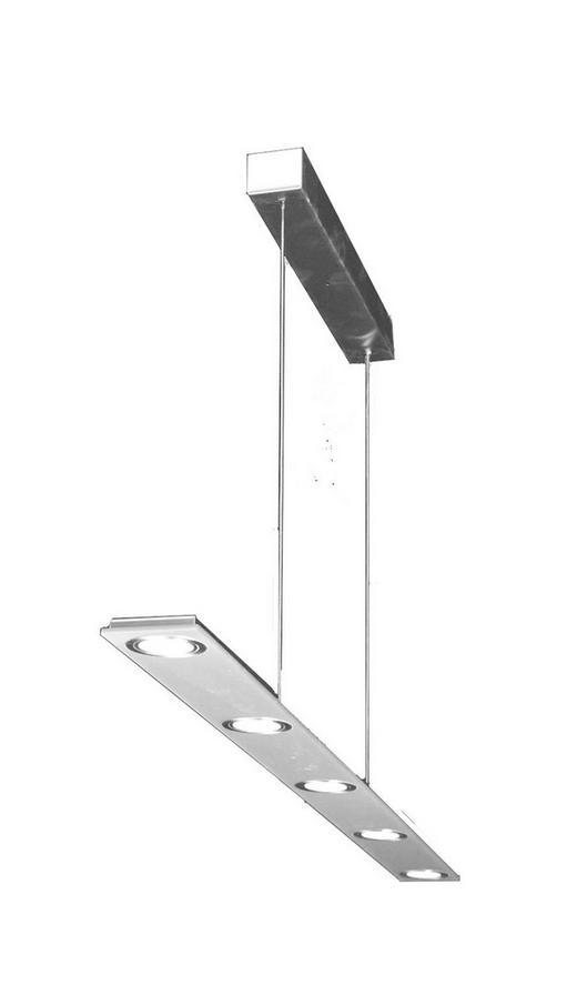 LED-HÄNGELEUCHTE - Silberfarben, Design, Kunststoff/Metall (1200/8/1,6cm)
