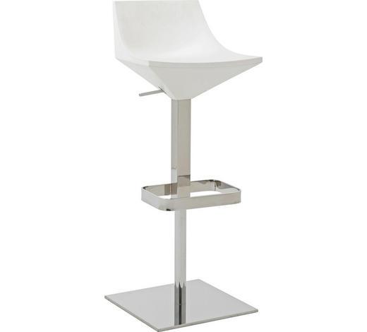 BARHOCKER in Metall, Kunststoff Weiß  - Weiß, Design, Kunststoff/Metall (41/104/42cm) - Calligaris
