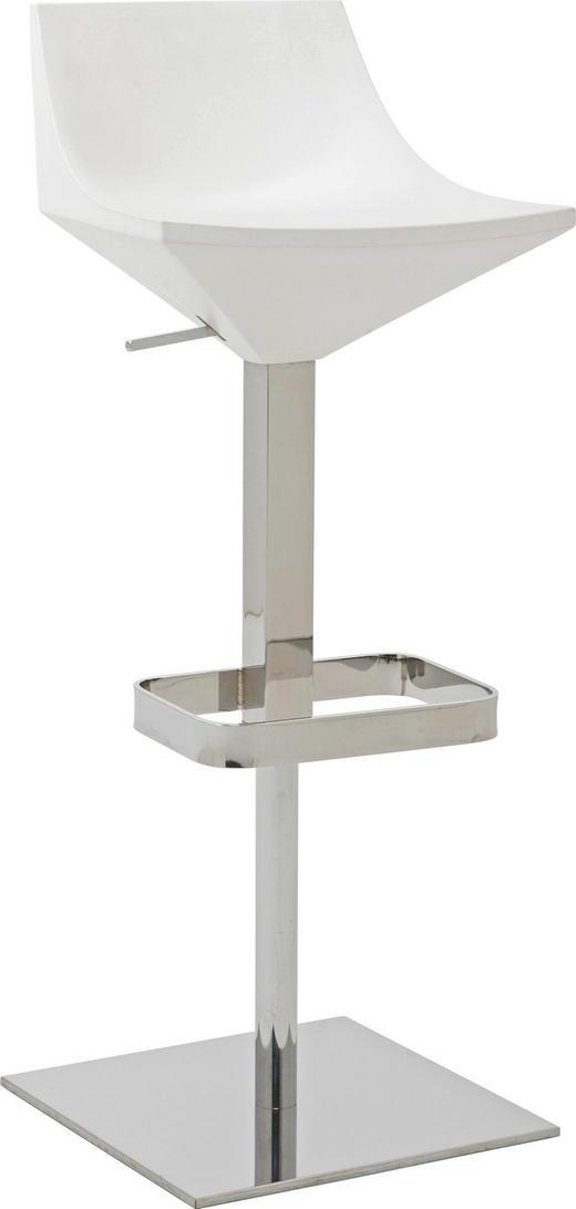 BARHOCKER Weiß - Weiß, Design, Kunststoff/Metall (41/104/42cm)