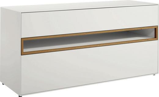 LOWBOARD lackiert Eichefarben, Weiß - Eichefarben/Weiß, Design (128/64/44,8cm) - Hülsta - Now