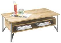 COUCHTISCH in Holz, Metall 110/60/40 cm   - Eichefarben/Anthrazit, Natur, Holz/Metall (110/60/40cm) - Carryhome