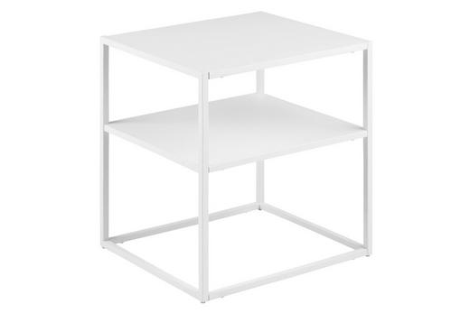 NACHTKÄSTCHEN Weiß - Weiß, KONVENTIONELL, Metall (45/50,5/40cm) - Carryhome