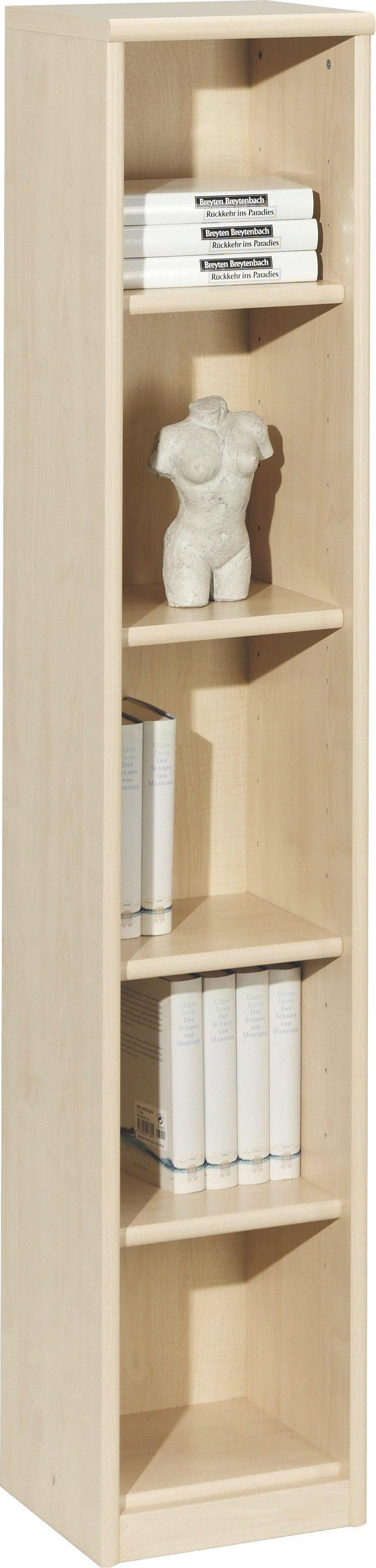 REGAL Ahornfarben - Ahornfarben, Design, Holzwerkstoff (28/148/26cm) - CS SCHMAL