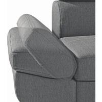 WOHNLANDSCHAFT in Anthrazit Textil - Chromfarben/Anthrazit, Design, Textil/Metall (229/270cm) - XORA