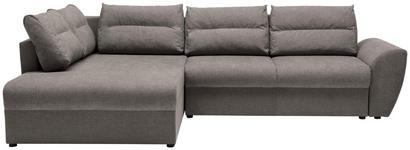 WOHNLANDSCHAFT in Textil Hellbraun  - Hellbraun/Schwarz, Design, Kunststoff/Textil (286/184cm) - Carryhome