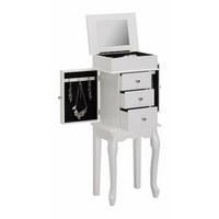 SKŘÍŇKA NA BIŽUTERII - bílá/černá, Design, kov/kompozitní dřevo (32/84,4/21cm) - Xora