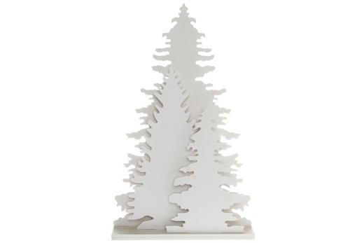 DEKOWEIHNACHTSBAUM  Weiß - Weiß, Holz/Kunststoff (21,5/35/5cm)