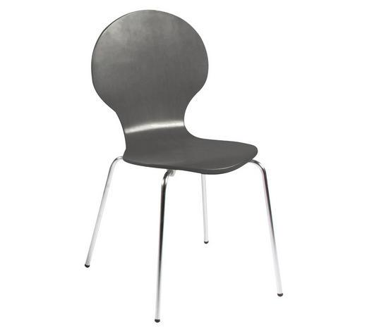 STUHL Grau  - Grau, Design, Metall (47/87/53cm) - Carryhome