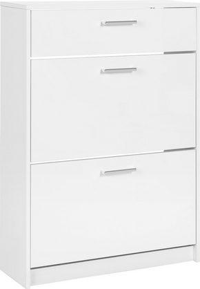 SKOSKÅP - vit/kromfärg, Klassisk, träbaserade material (75/103/25cm) - Low Price