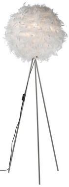 LAMPA STOJACÍ - bílá/barvy niklu, Design, další přírodní materiály/kov (40/150cm) - BOXXX