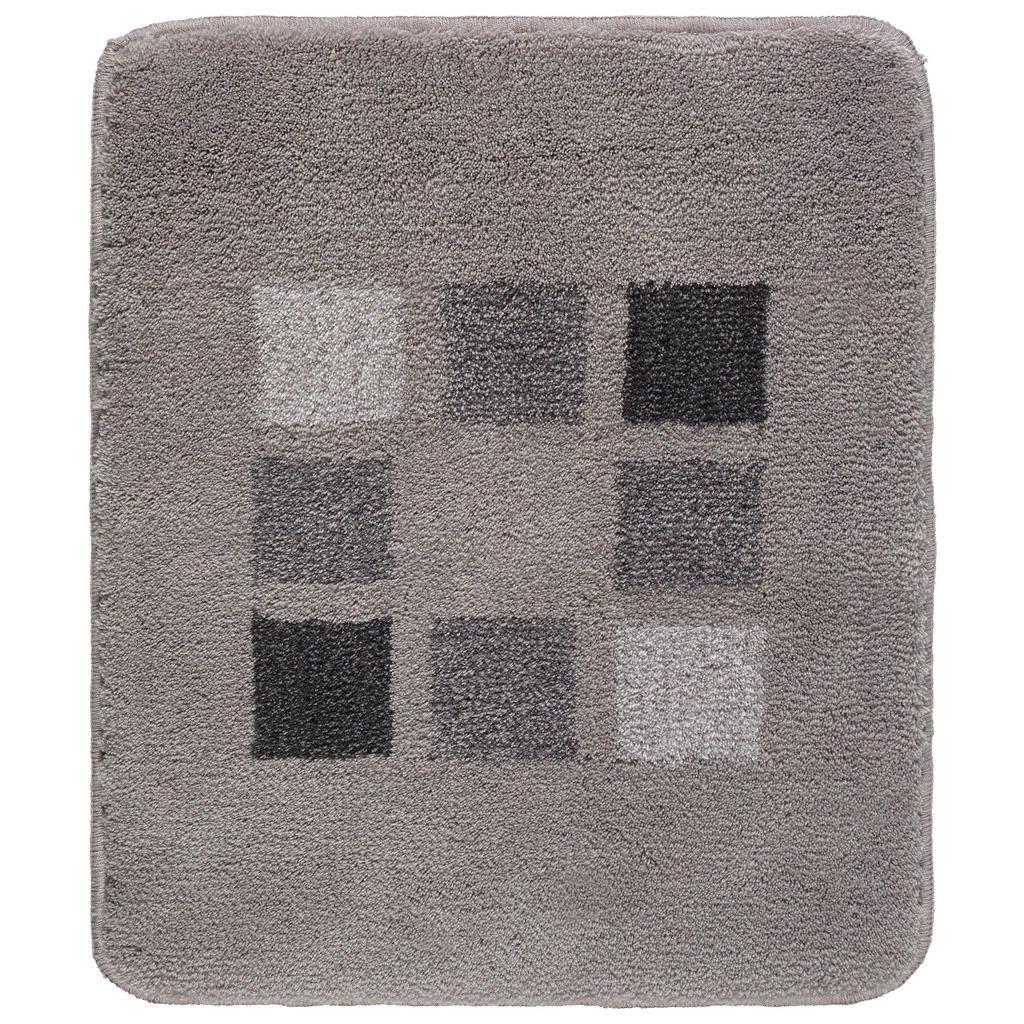 Kleine Wolke Badteppich in silberfarben 50/60 cm