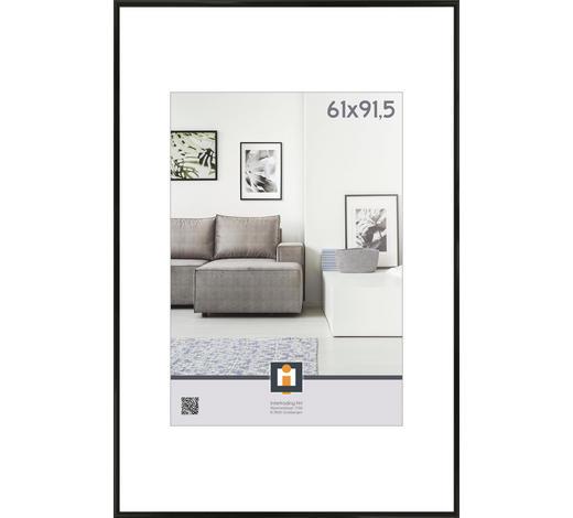 RÁM NA OBRAZY, 93/63/2 cm, černá - černá, Basics, umělá hmota/sklo (93/63/2cm)