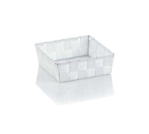 KORB  - Weiß, Basics, Textil (19/19/6cm) - Kela