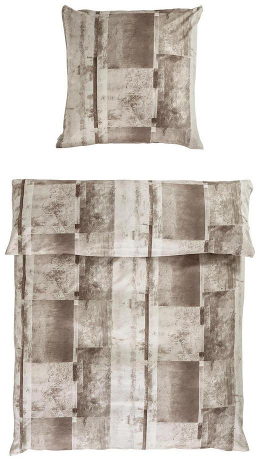 BETTWÄSCHE Biber Braun - Braun, Design, Textil (28/38/5cm) - Estella