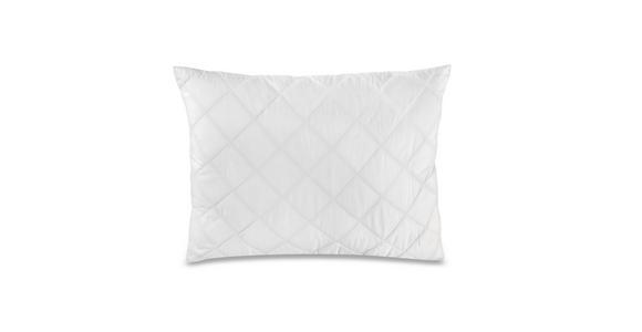 Kopfpolster mit Faserkugeln Julia 70x90cm - Weiß, KONVENTIONELL, Textil (70/90cm) - Primatex