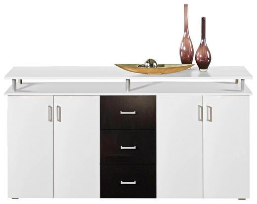 KOMODA - bijela/boje srebra, Design, drvni materijal/plastika (180/90/40cm) - XORA