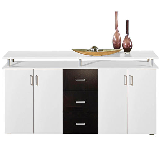 KOMODA - bijela/boje srebra, Design, drvni materijal/plastika (180/90/38cm) - Xora