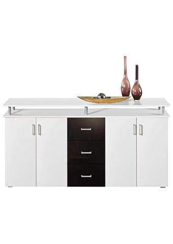 KOMODA, črna, bela - črna/bela, Design, umetna masa/leseni material (180/90/38cm) - Boxxx