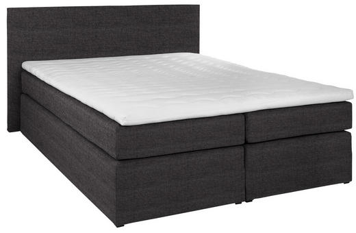 BOXSPRINGBETT  in Anthrazit - Anthrazit/Schwarz, Design, Kunststoff/Textil (160/200cm) - Carryhome